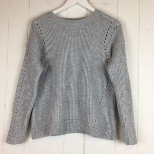Forever 21 Small Crewneck Pullover Sweater Gray